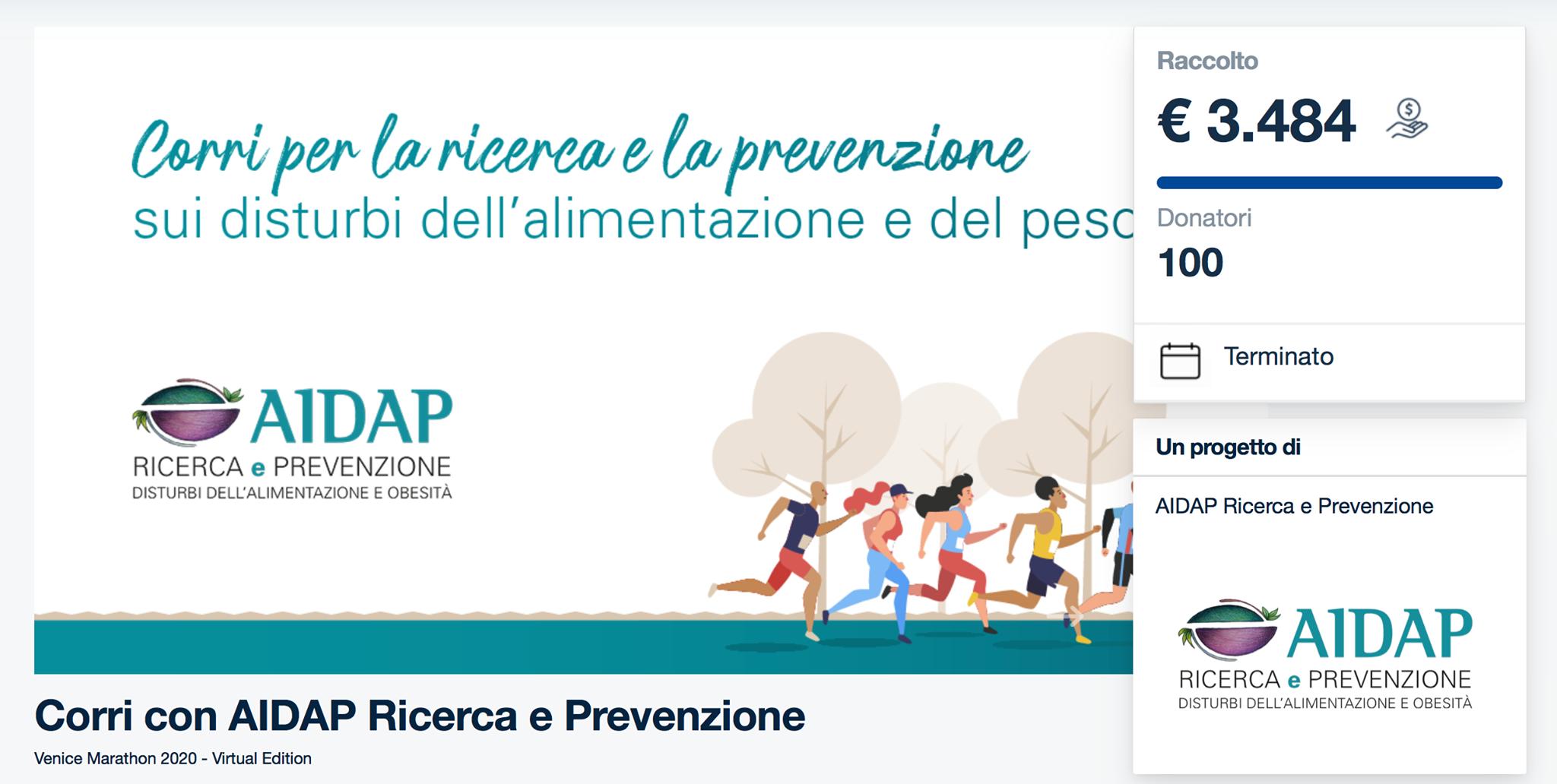 Rete del Dono - Corri con AIDAP Ricerca e Prevenzione
