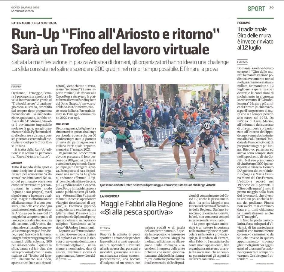 Rete del Dono - 1°maggio Ferrara Inline 2020 - Run-Up