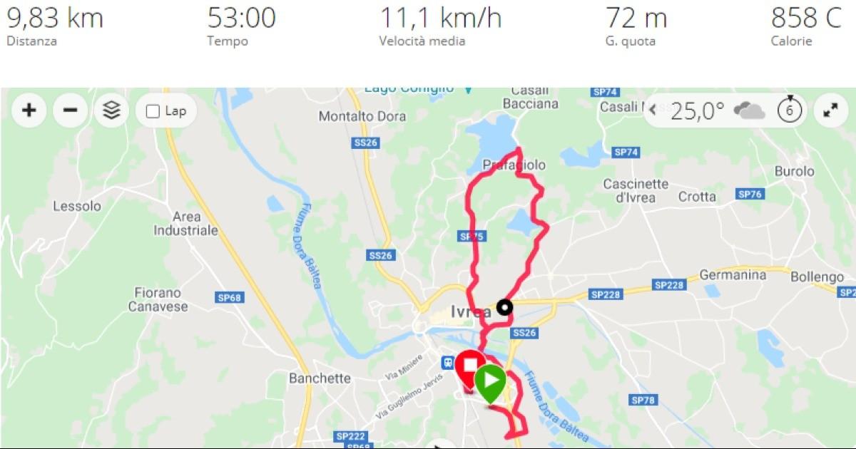 Rete del Dono - 28km in montagna per l'itis Olivetti