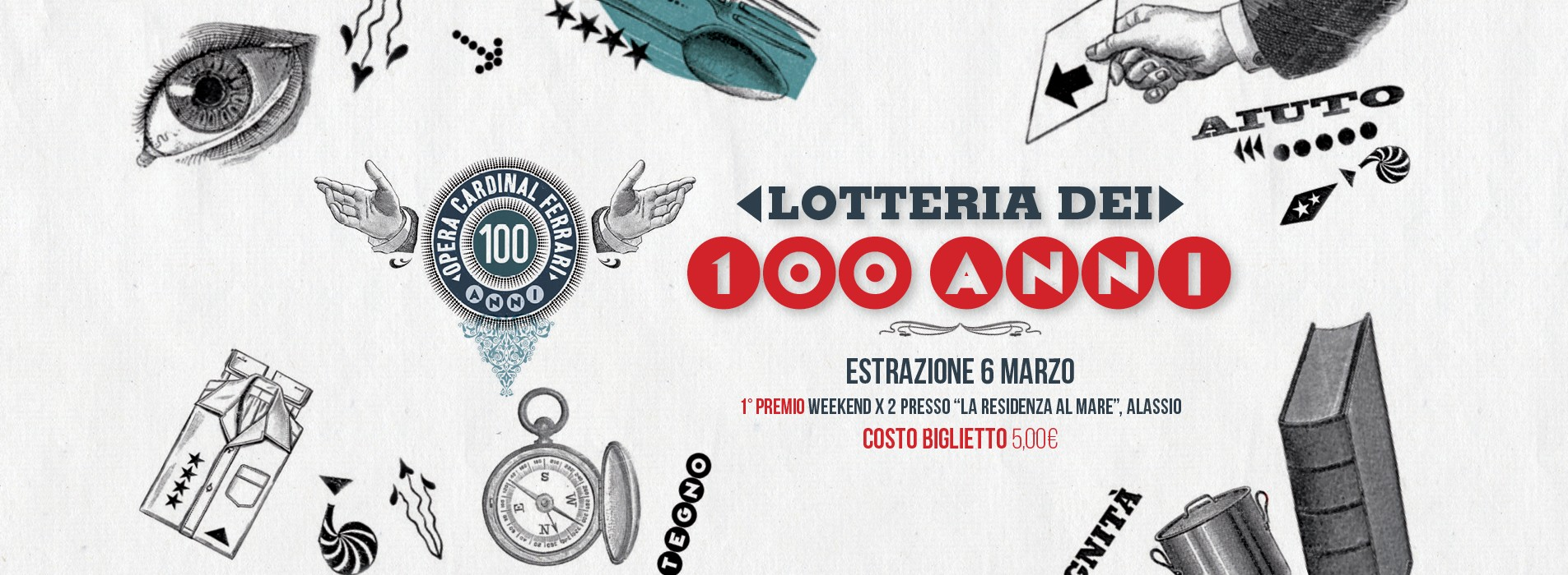LOTTERIA DEI 100 ANNI 1921- 2021-OPERA CARDINAL FERRARI
