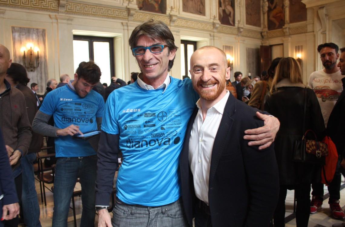 Insieme a Jury Chechi alla presentazione ufficiale della Milano Marathon