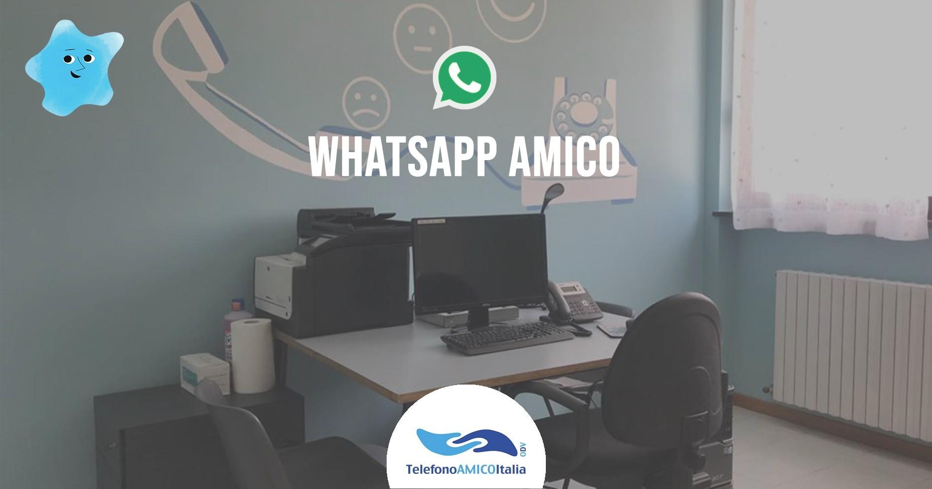 SCRIVI LA STORIA DI WHATSAPP AMICO -TELEFONO AMICO ITALIA
