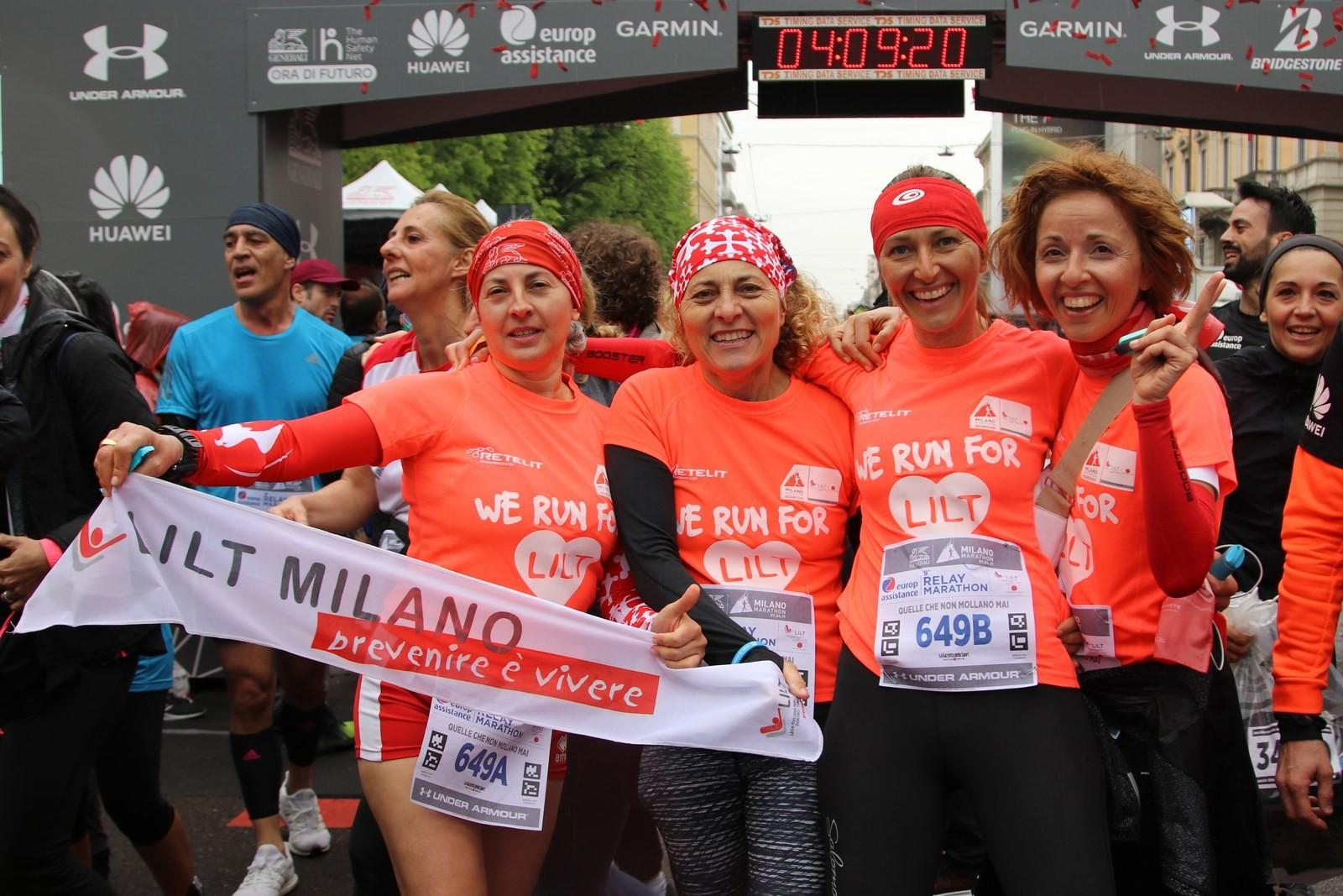 CORRI CON LILT LA MILANO MARATHON 2019-LILT Milano