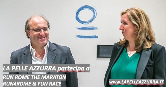 Colora di azzurro la Run Rome Marathon-LA PELLE AZZURRA